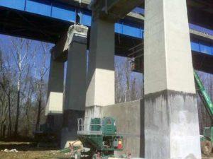 Bridge repair with HJ3 carbon fiber