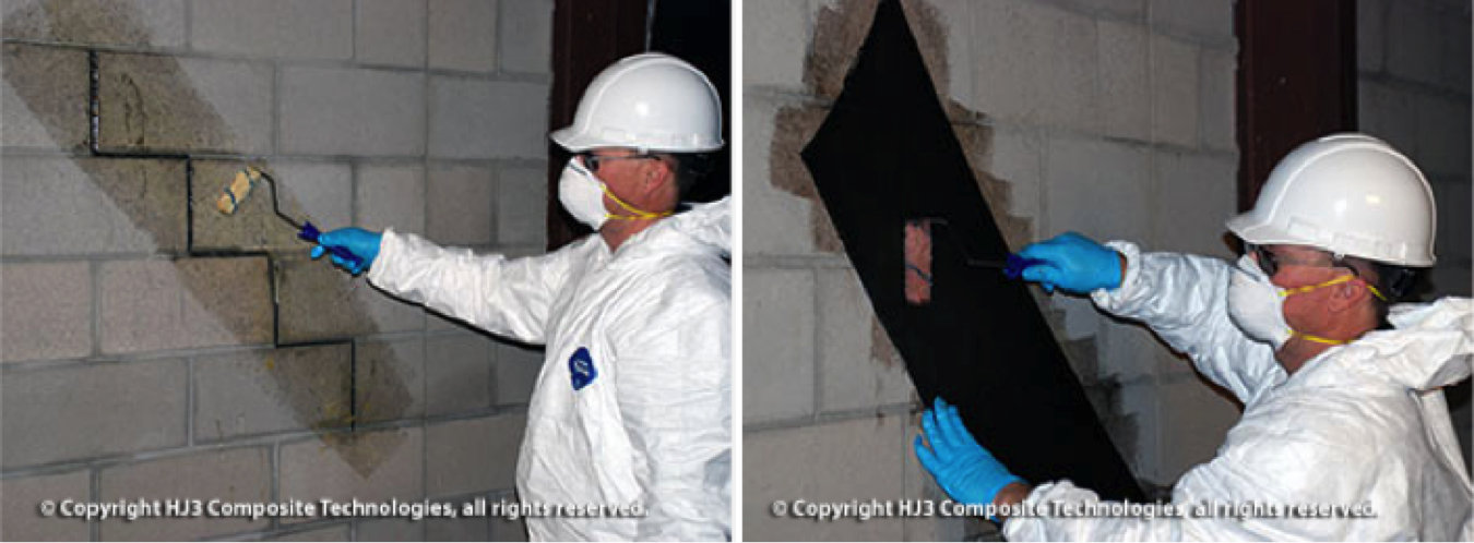StrongHold's cracked wall repair kit confines wall cracks, preventing basement leaks.