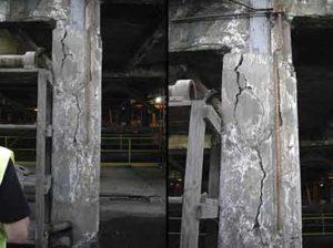 copper mine concentrator column repair