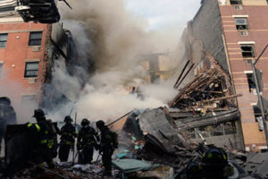 A gas explosion in Harlem earlier this year killed 8 and injured 48. Credit: NY Daily News