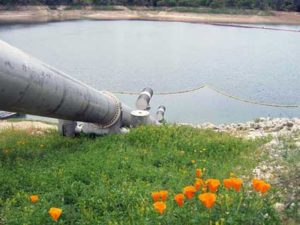 Nacimiento Lake feeds the 45-mile pipeline. Photo Credit: San Louis Obispo County.