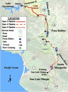 The Nacimiento Pipeline is 45 miles long and provides water to 5 California communities. Photo Credit: San Louis Obispo County