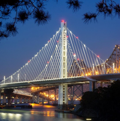 The New Bay Bridge and its impressive tower. Photo Credit: Metropolitan Transportation Commission