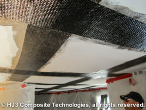 The StrongHold carbon fiber system successfully strengthened this homeowner's structurally-cracked ceiling.