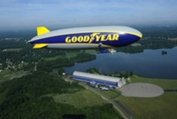"The Wingfoot One, Goodyear's newest non-blimp ""blimp"".  Photo Credit: Goodyear"