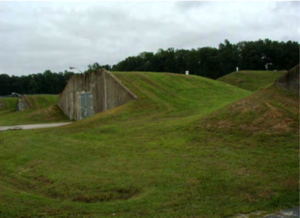 A typical Earth Covered Magazine bunker. Photo Credit: US Army Corps of Engineers
