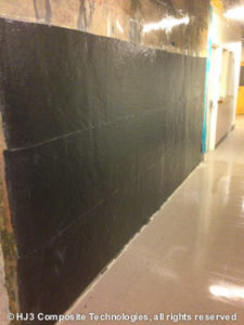 HJ3's Carbon Fiber is applied to one of the walls.