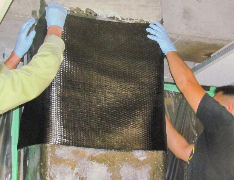 hj3 applying carbon fiber over column