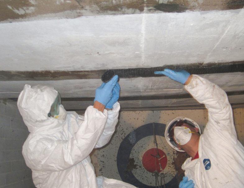 Residential Bowing Crawl E Ceiling Repair Hj3
