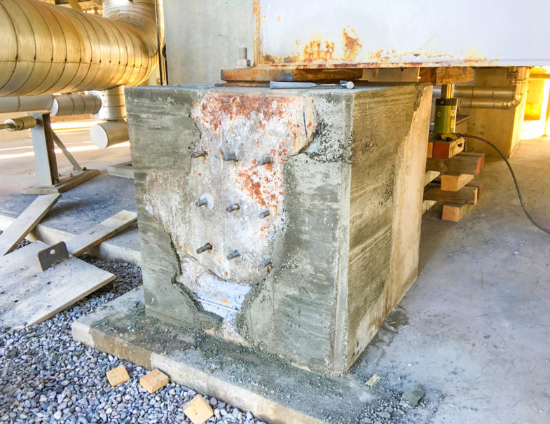 6 Deteriorating Reinforced Concrete Pedestals Repaired Hj3