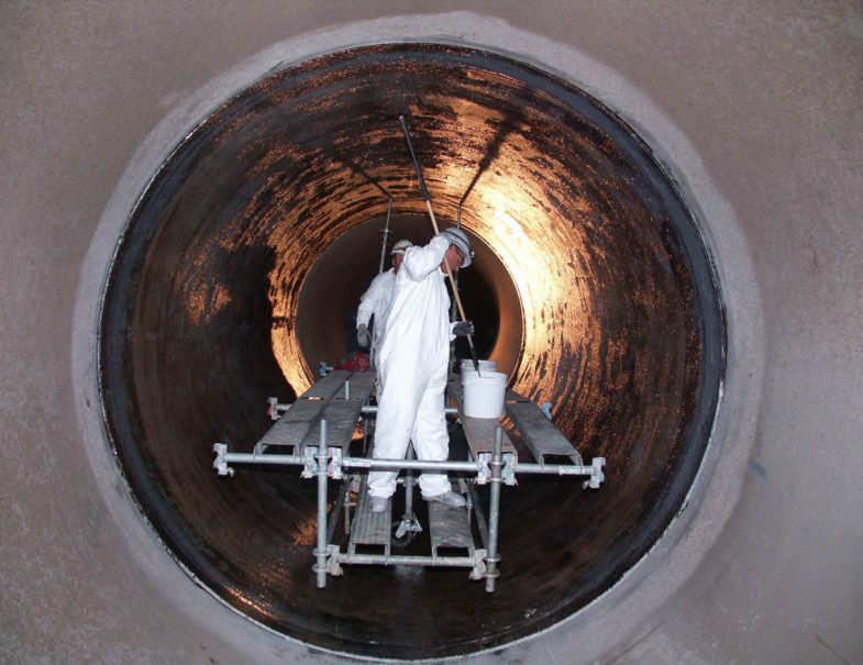 Concrete Pipe Repair At Arizona Power Plant Hj3