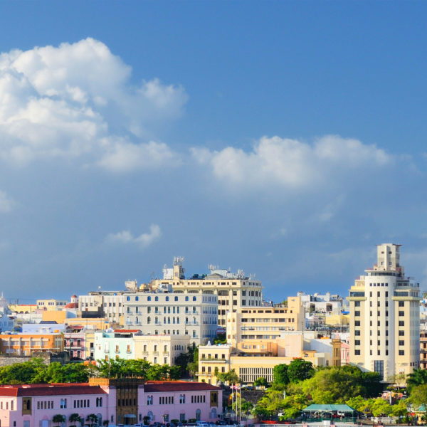 View of the city of Puerto Rico where HJ3 installed it's CFRP system to repair and strengthen the beams of the garage.