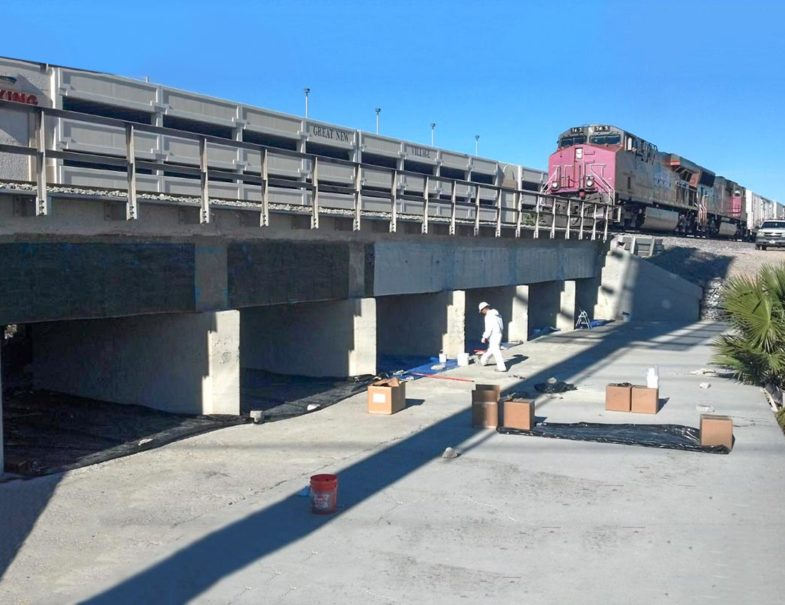 Railroad Bridge Concrete Repair With No Downtime And 80