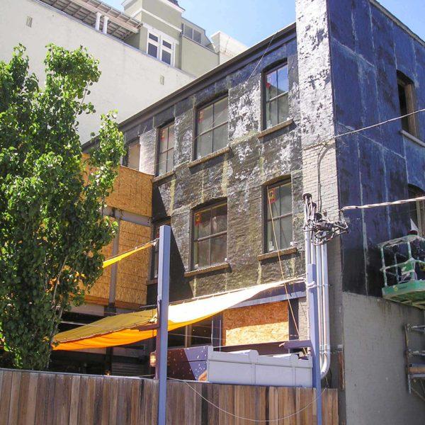 squatters pub showing fire damage