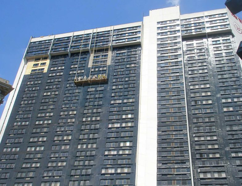 The exterior and interior of this high-rise had HJ3's CFRP system installed while the building was occupied.