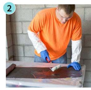 carbon fiber repair for bowing wall