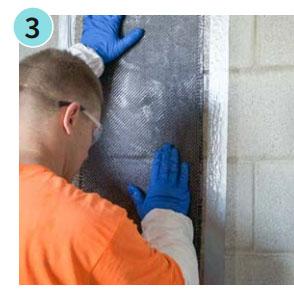 bowing wall carbon fiber repair