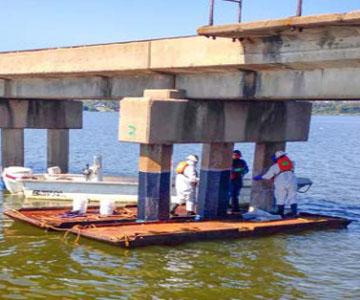 bridge piling installation