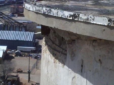 concrete silo cornice repair