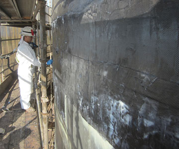 power plant carbon repair