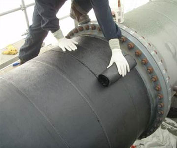 steel pipe carbon fiber application