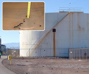 wastewater tank carbon fiber repair